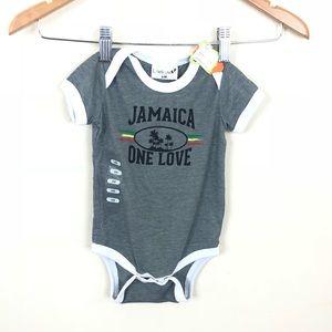 Jamaica One Love Onesie • 6m